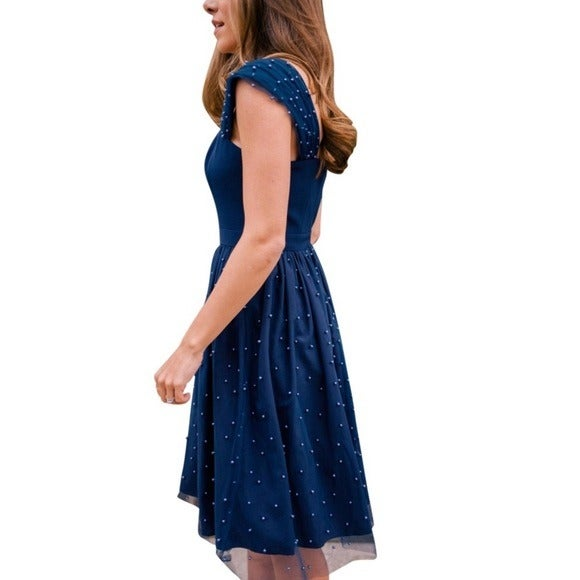 NWT Gal Meets Glam Delores Pearl Dress 6