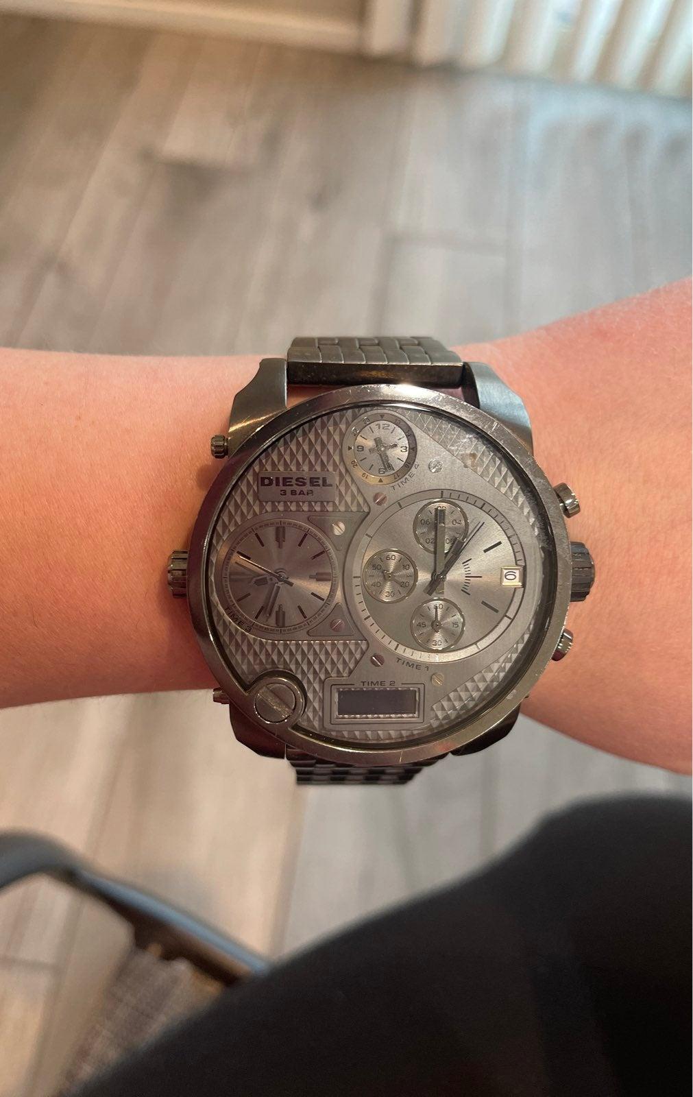 Diesel watch gray stainless steel