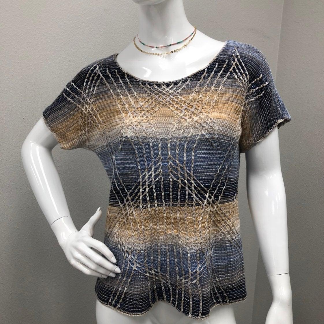 NIC+ZOE Linen Blend Short Sleeve Knit