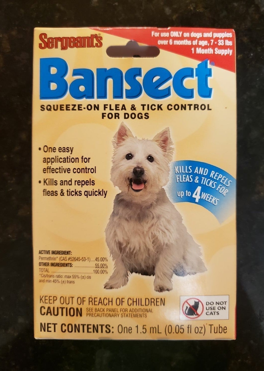 1 Month Flea & Tick Control for Small Do