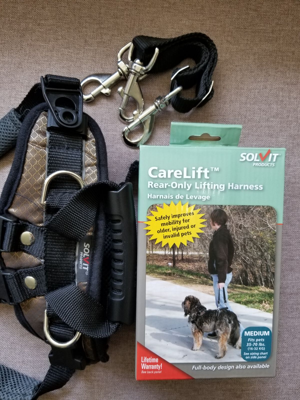 Solvit Carelift rear-only lifting harnes