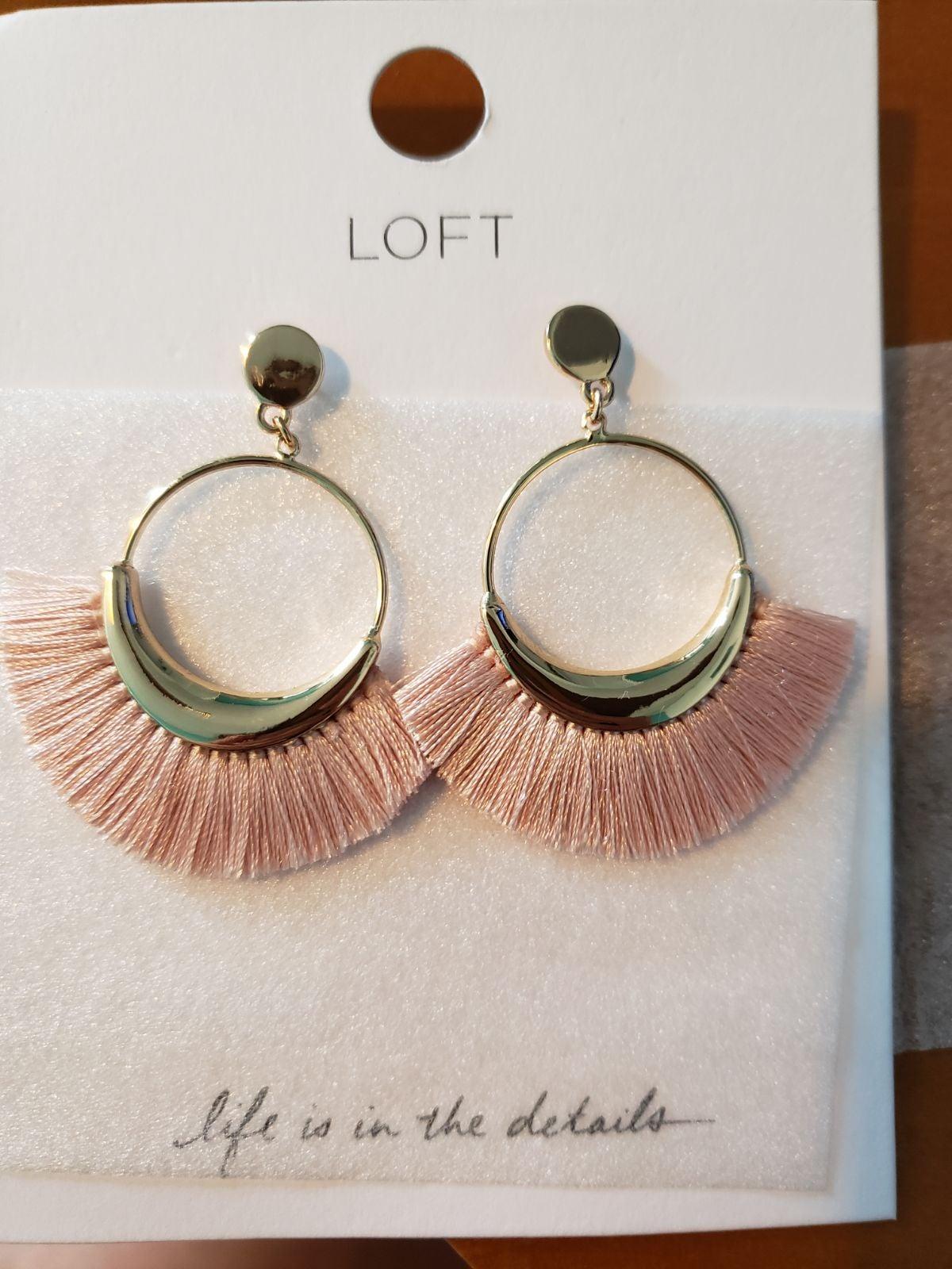LOFT- Fringe Drop Earrings