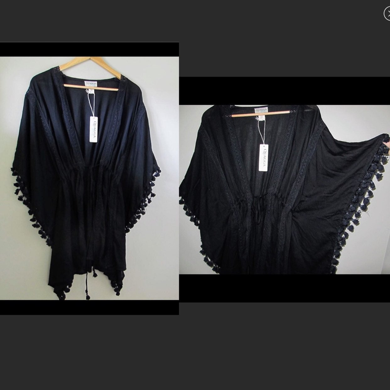 Black tassel swim cover