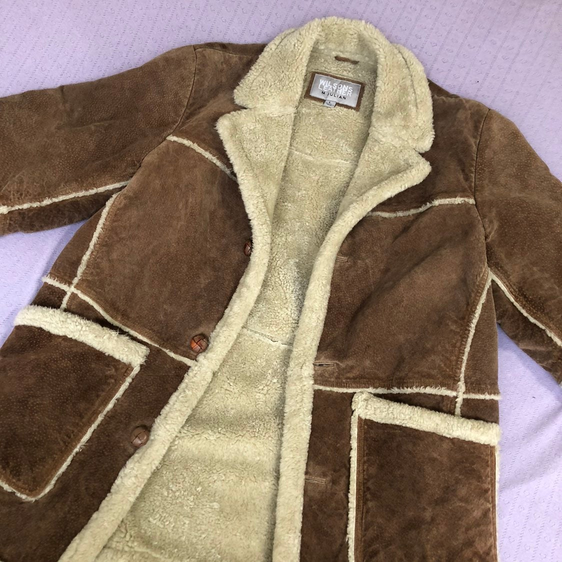 Vintage Wilsons Leather Suede Faux Shear