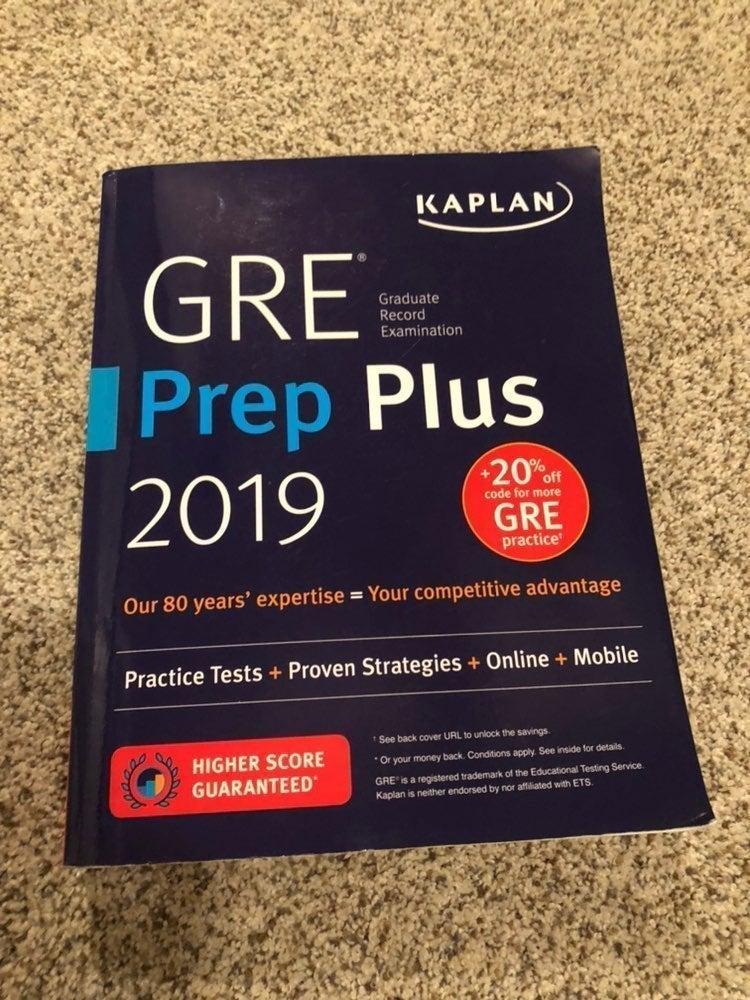 Kaplan GRE Prep Book