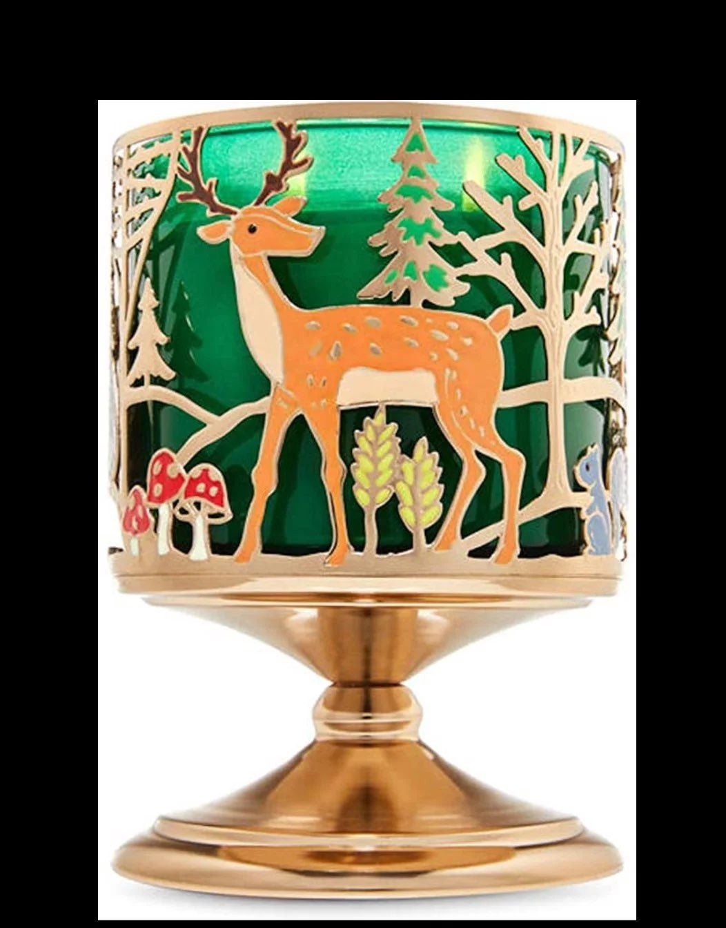 B&BW Forest Friends Pedestal 3-Wick Hold