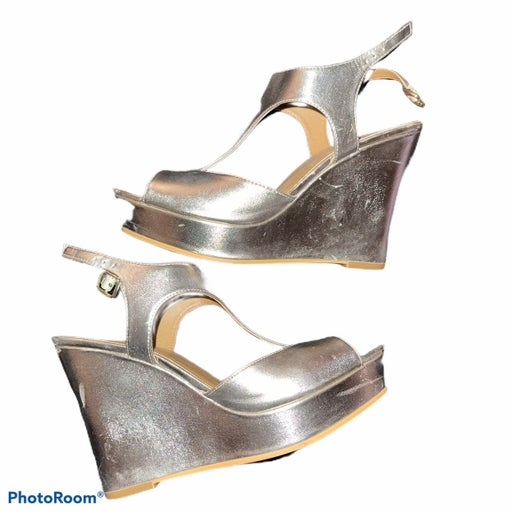 Gold BP Strappy Wedges