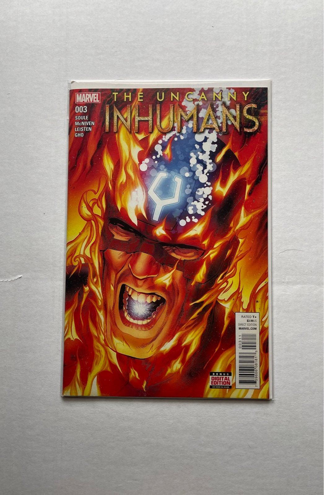 marvel uncanny inhumans #3 comic book