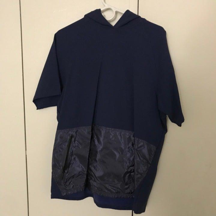 DYNE: Mens L Blue short sleeve hoody