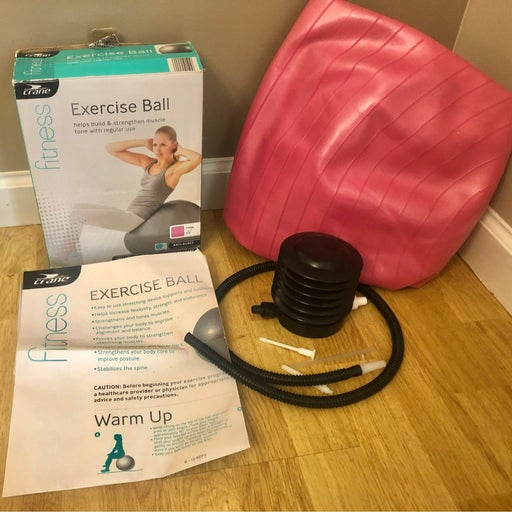"""Crane Fitness 22"""" Pink Exercise Ball Ant"""