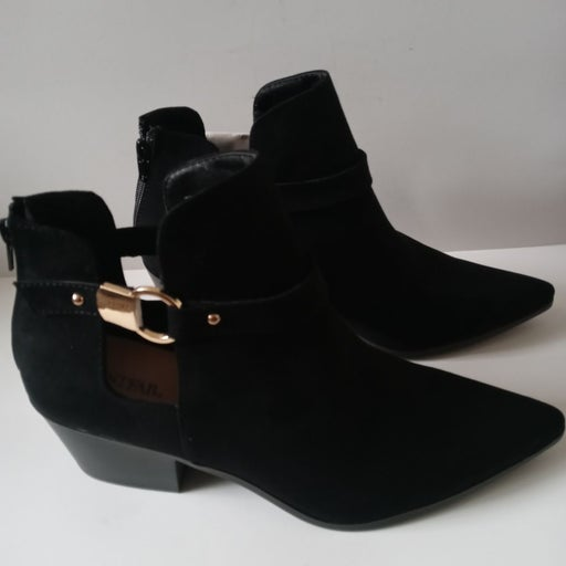 Black suede boot Booties size 12