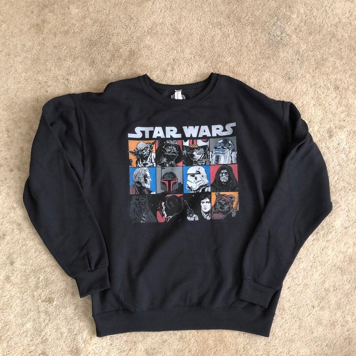 Star Wars Mens Sweatshirt Black