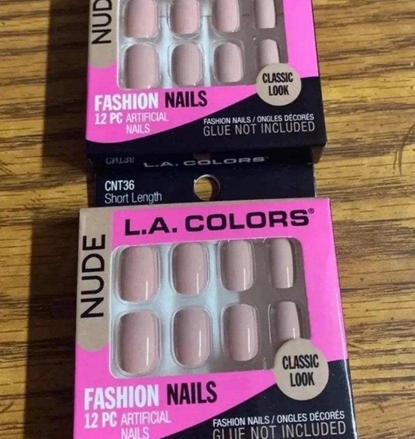 L.A. Colors nude nails