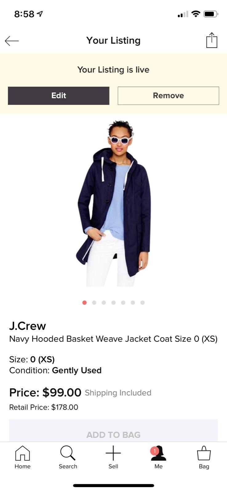 J crew Basketweave Jacket