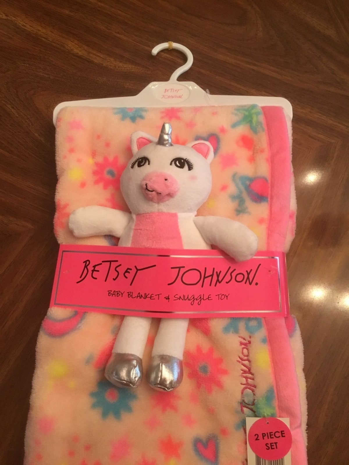 NEW BETSEY JOHNSON BABY BLANKET N TOY