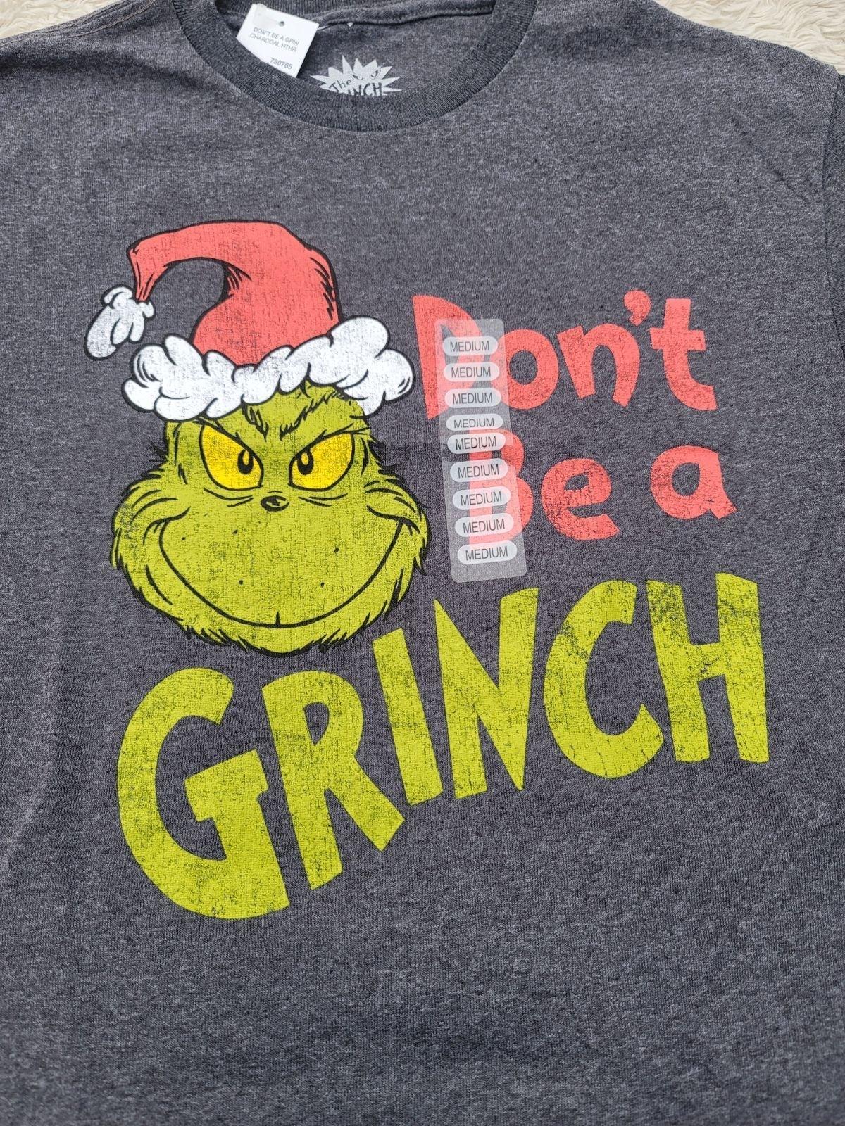 "XXL""Don't Be A Grinch"" T-Shirt Dr. Seuss"