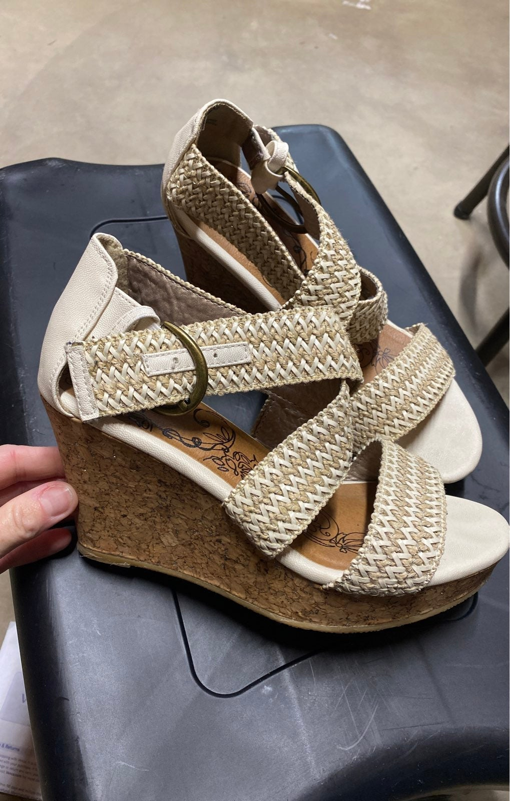 HOLD FOR KBEAR Wedge Sandals BKE 8.5 and
