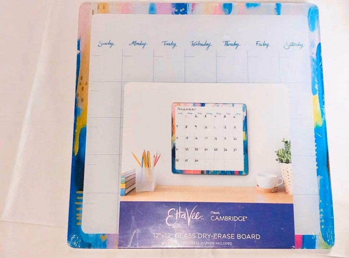 12X12 Glass Erase Board Etta Vee