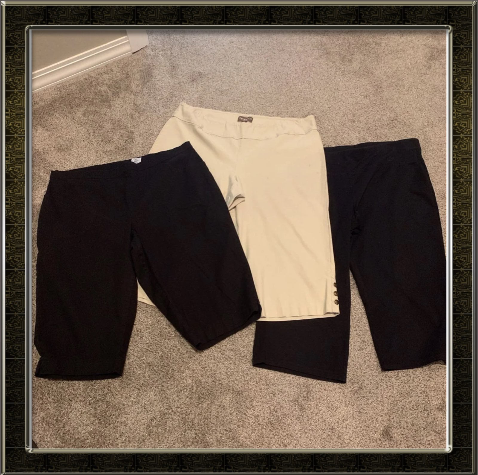 3 pc plus size capri pants bundle