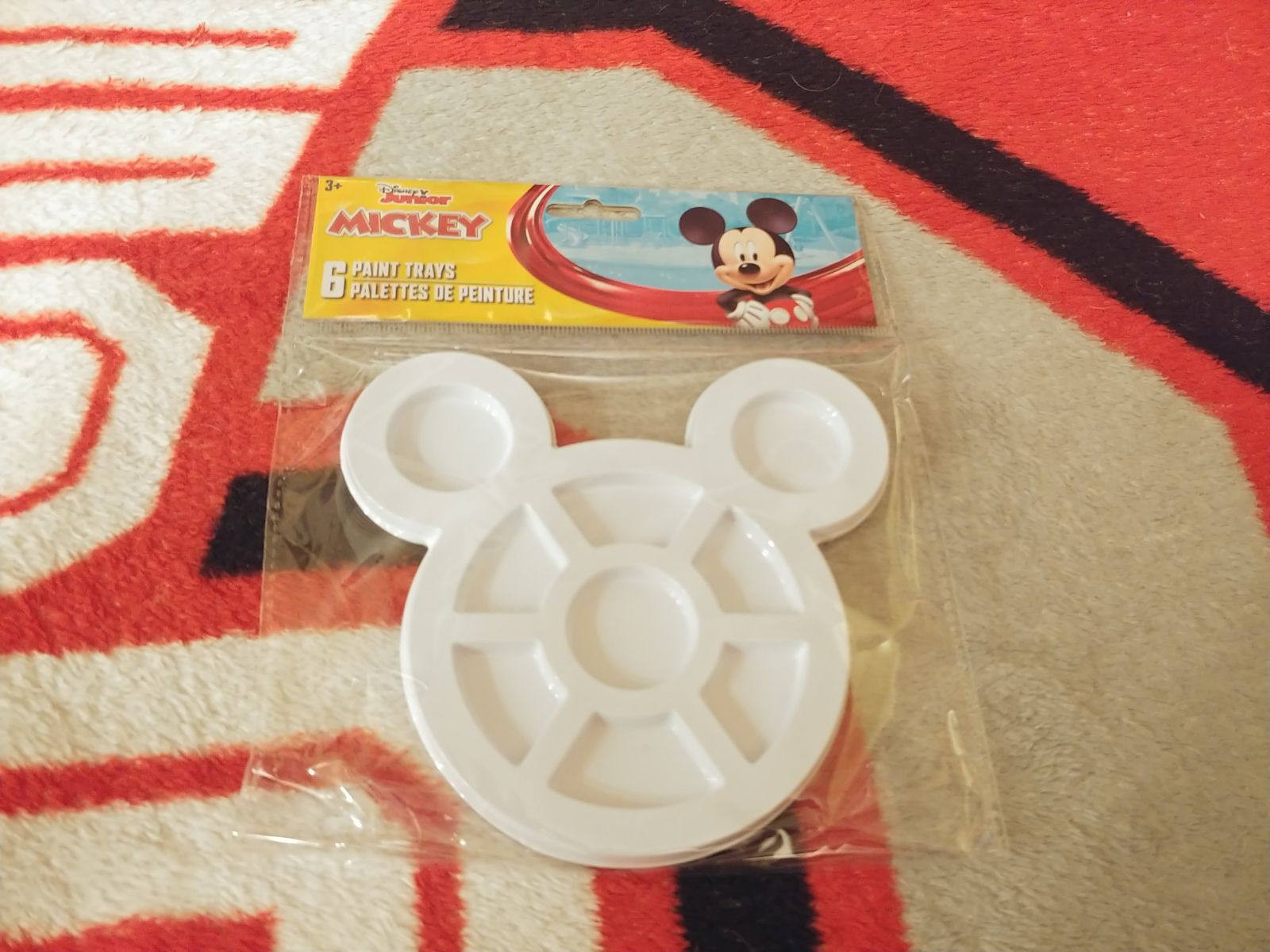 Paint Trays 6pc Mickey Mouse Arts Crafts