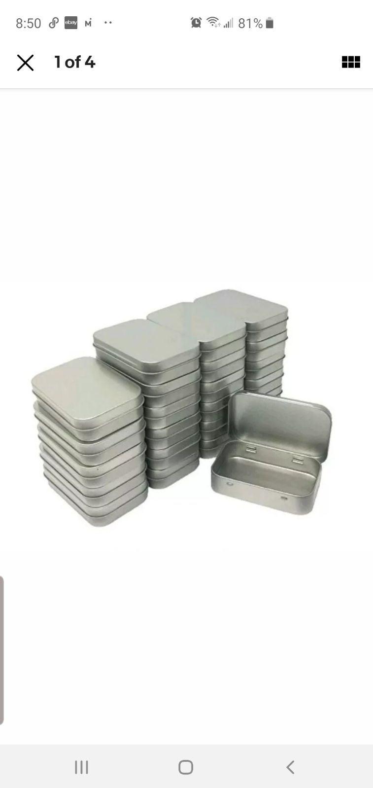 120 rectangular tins