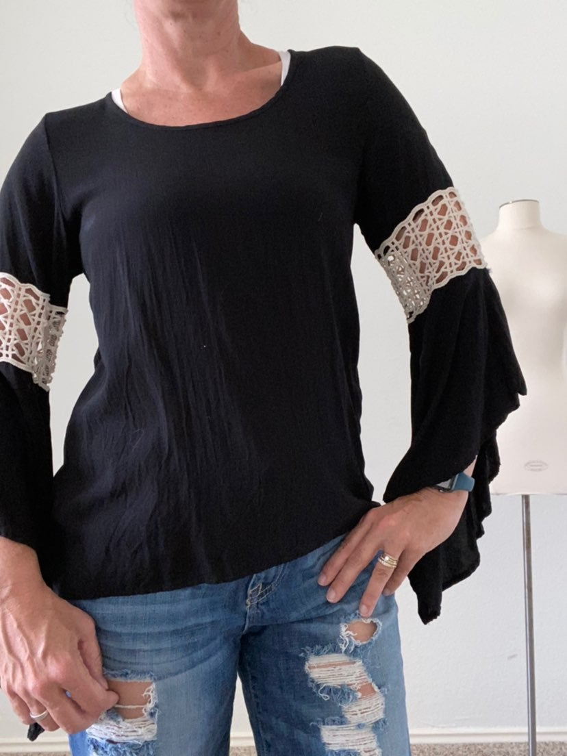 The impeccable pig boho style top