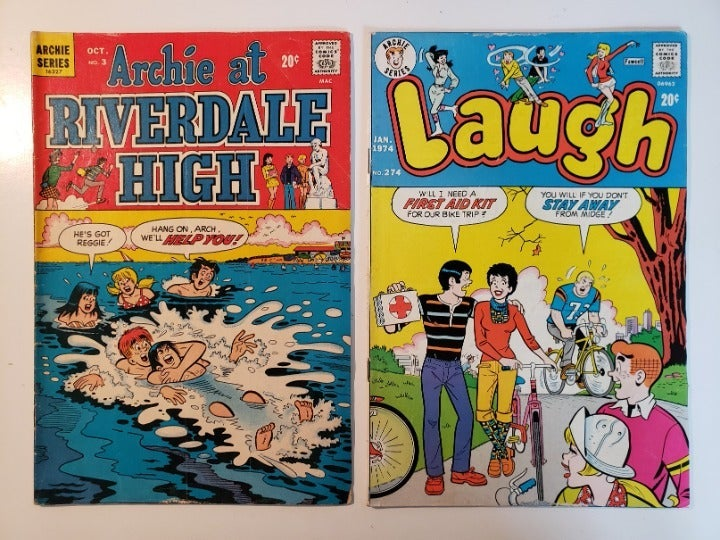2 vintage comic books - Archie, Laugh