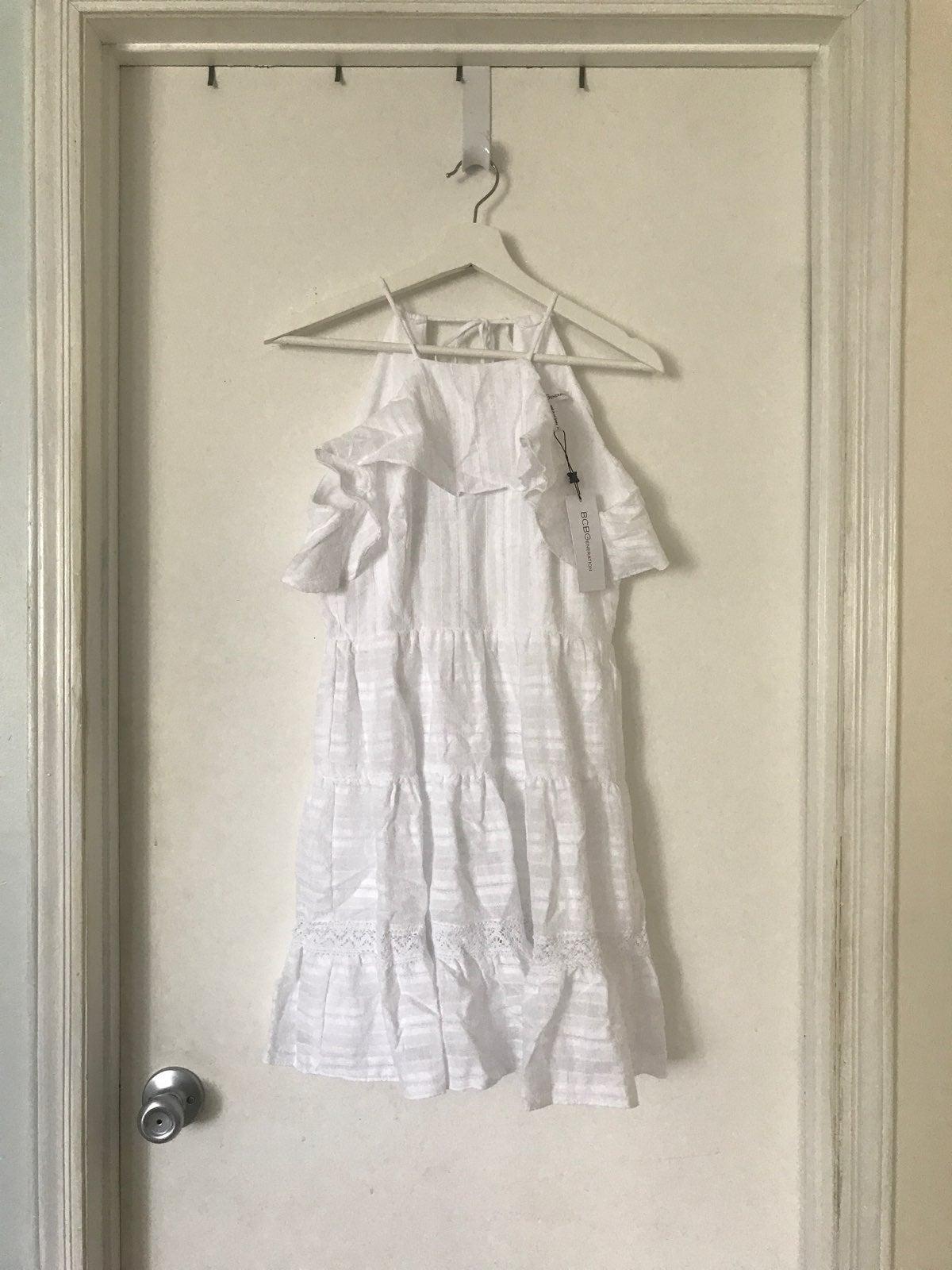 NWT BCBGeneration White Ruffle Dress