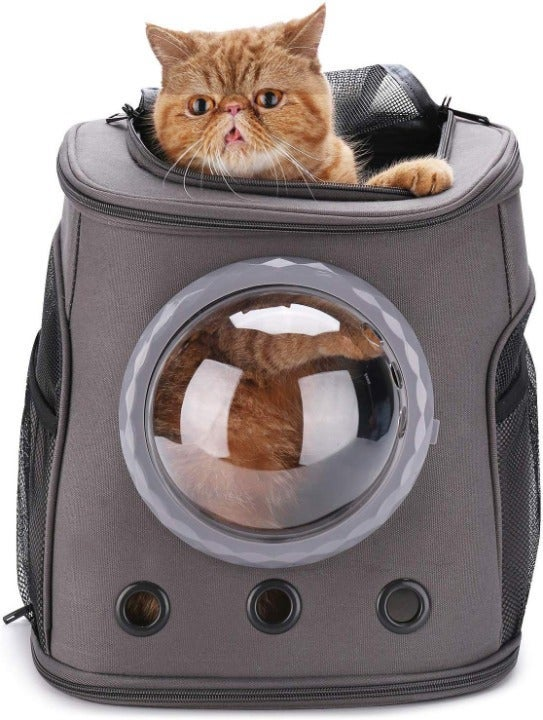 Cat Backpack Carrier with Bubble Vent