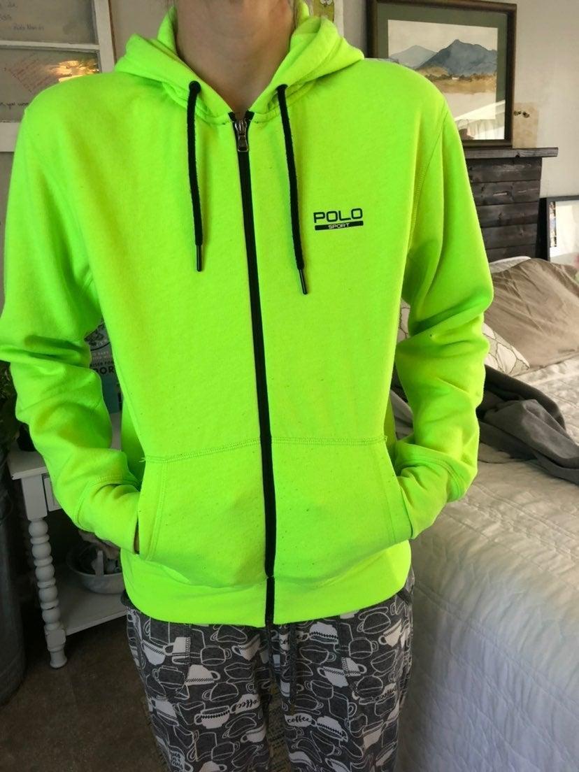 Polo Ralph Lauren lime green zipper hood