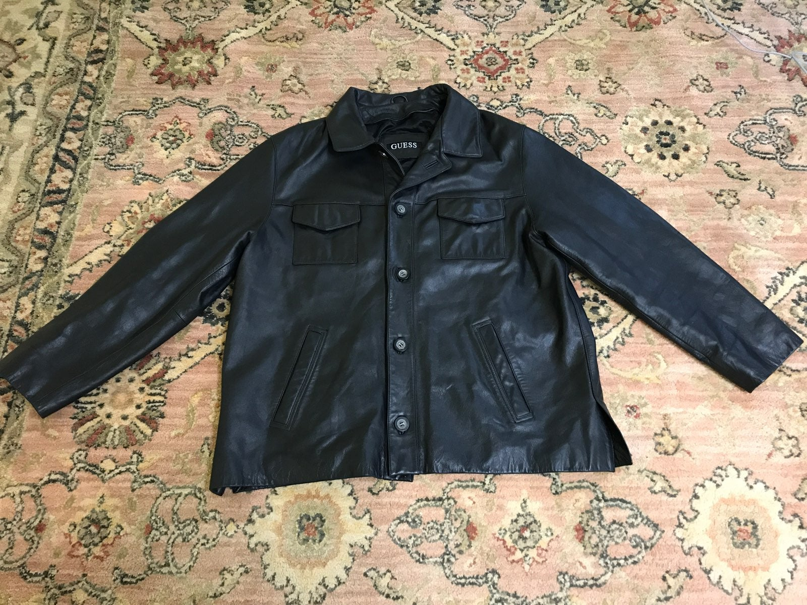 Vintage Guess Leather Jacket Size XL