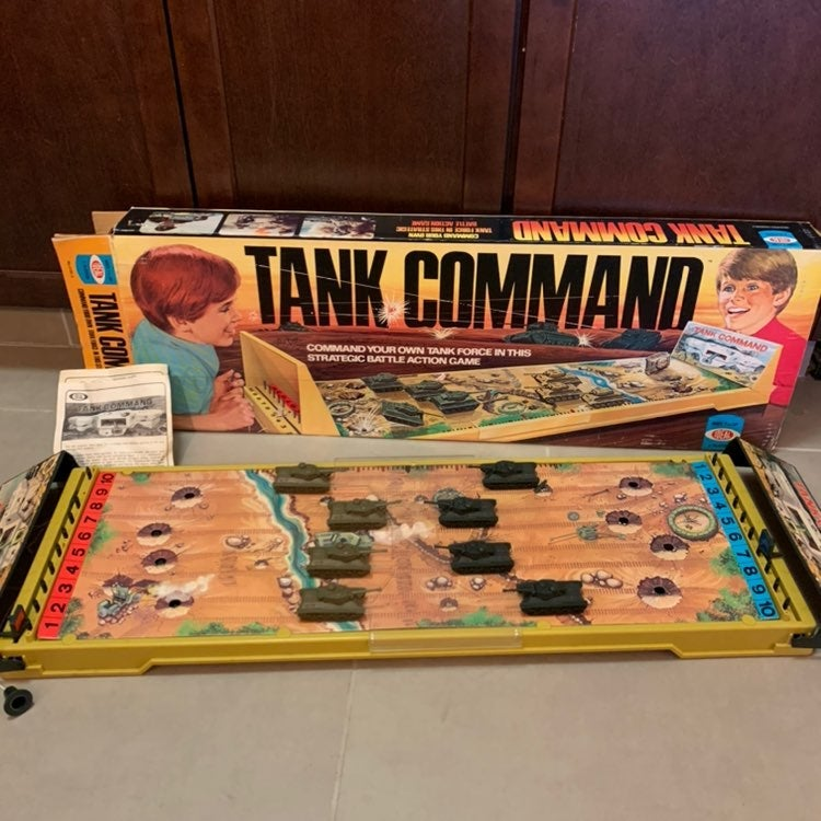1975 Ideal Tank Command Board Game