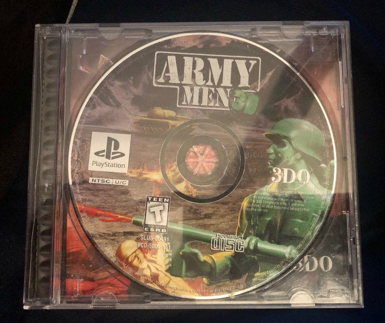 Playstation 1 Army Men 3D Disc Only