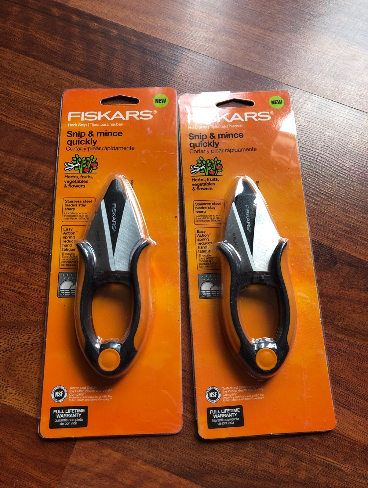 Lot of 2. Fiskars herb snipper