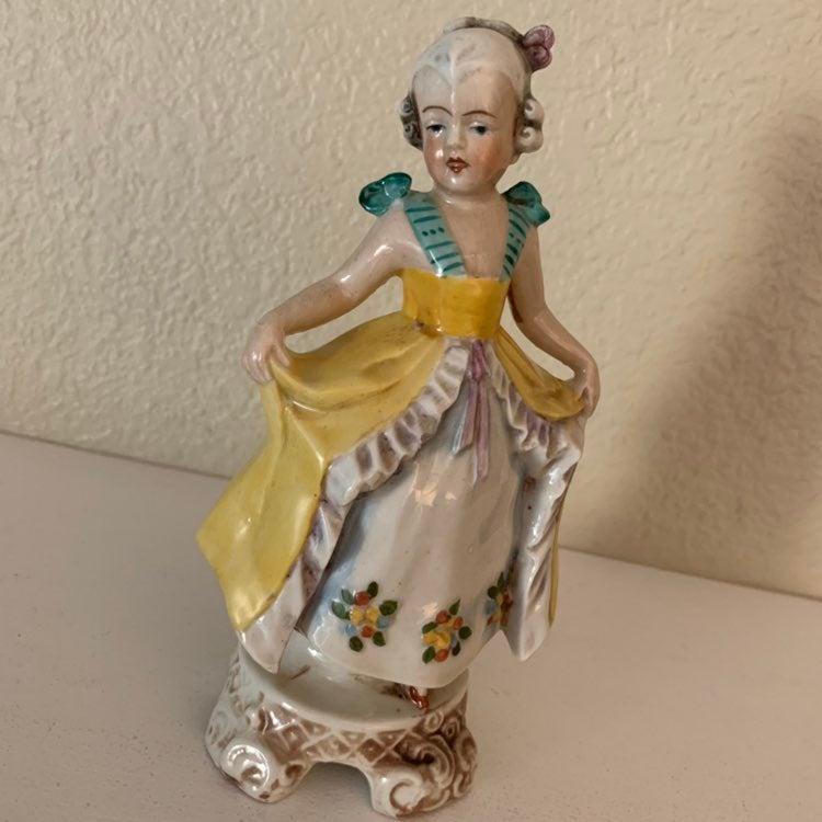 Unger Schneider Girl Figurine Porcelain