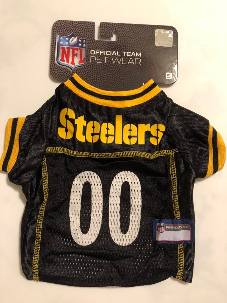 Pittsburgh Steelers NFL Dog Pet Jersey S