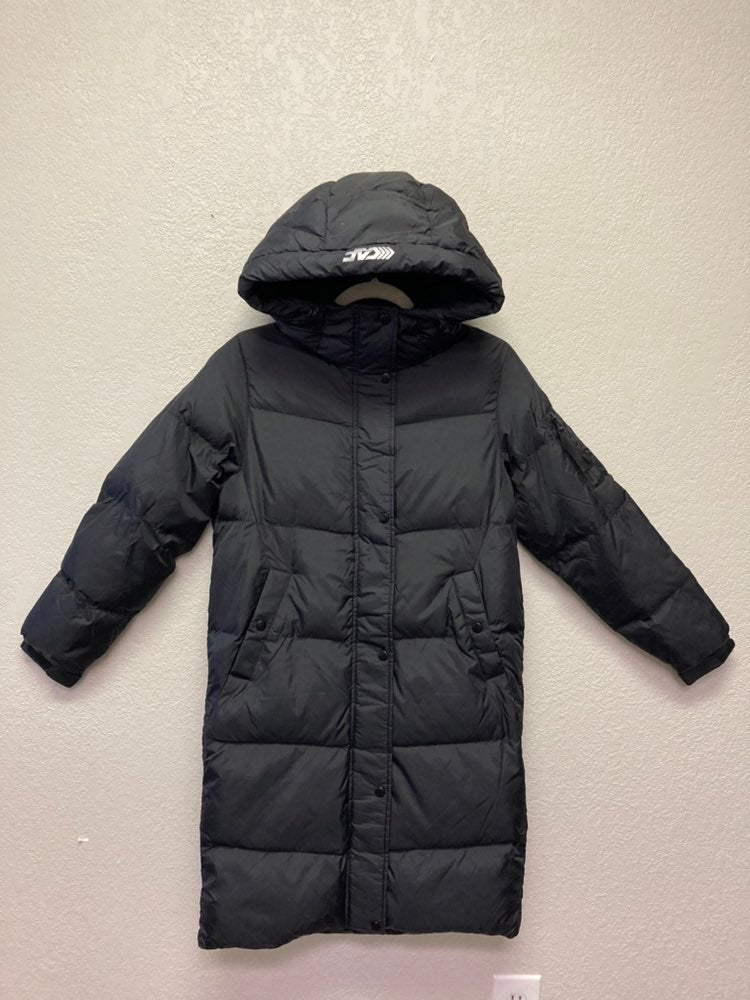 Insulated hooded winter ski jacket