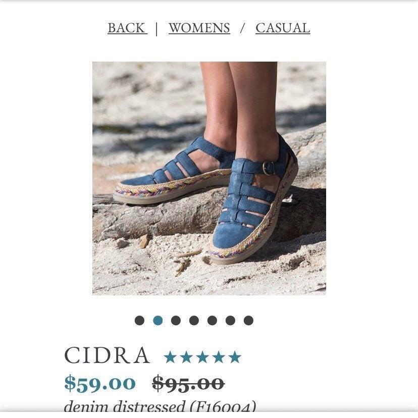 Born Cidra In Denim Distressed Shoes