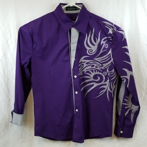 Jeansians long sleeve button down  shirt