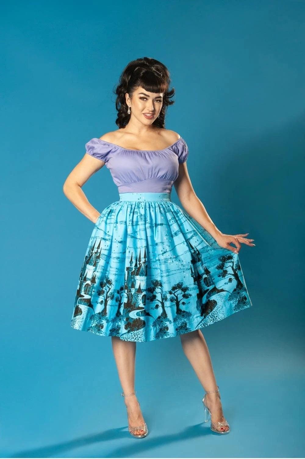 Pinup Clothing Blue Skirt