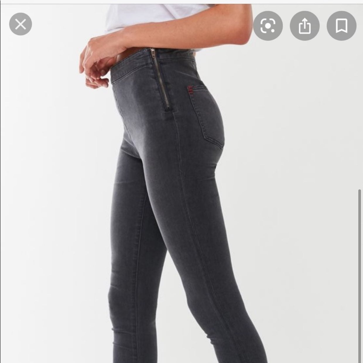 Charcoal black high rise jeans