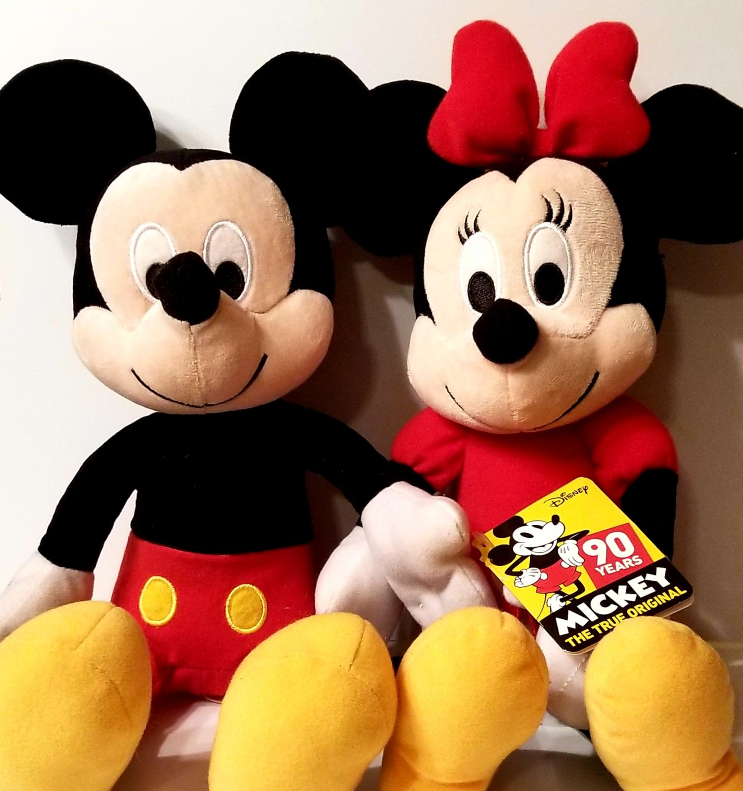 Mickey and Minnie mouse plush