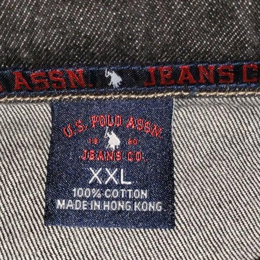 U.S. Polo Black Denim Jean Jacket XXL