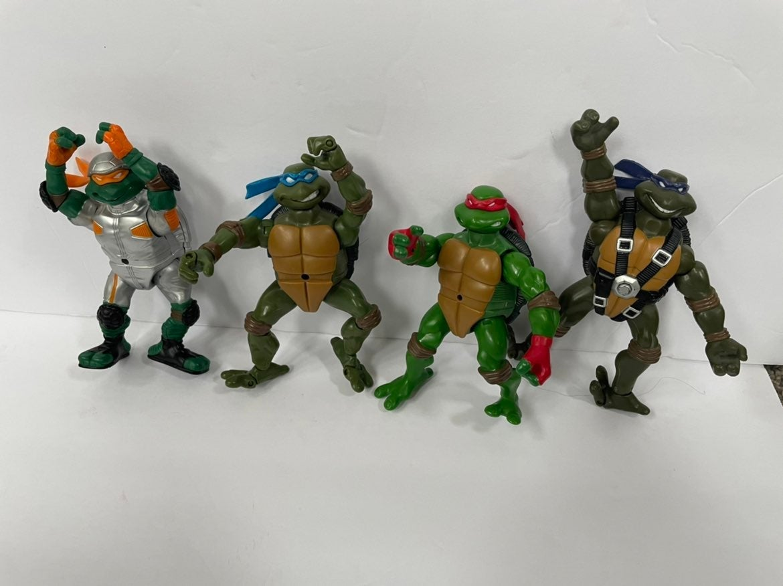 Vtg Lot Of 4 Teenage Mutant Ninja Turtle