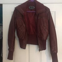 04c337b6b Red Maroon Faux Leather Jacket