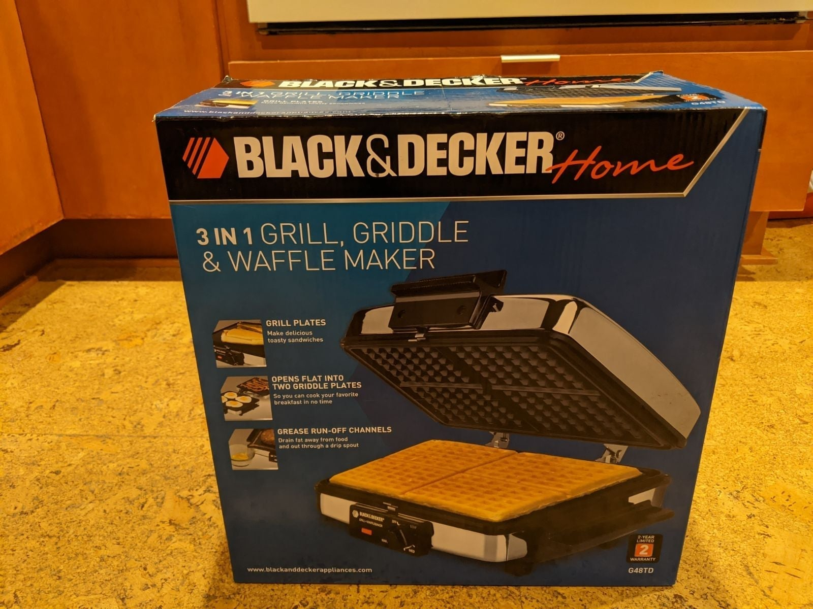 Black and Decker 3 in 1 Griddle/Waffle