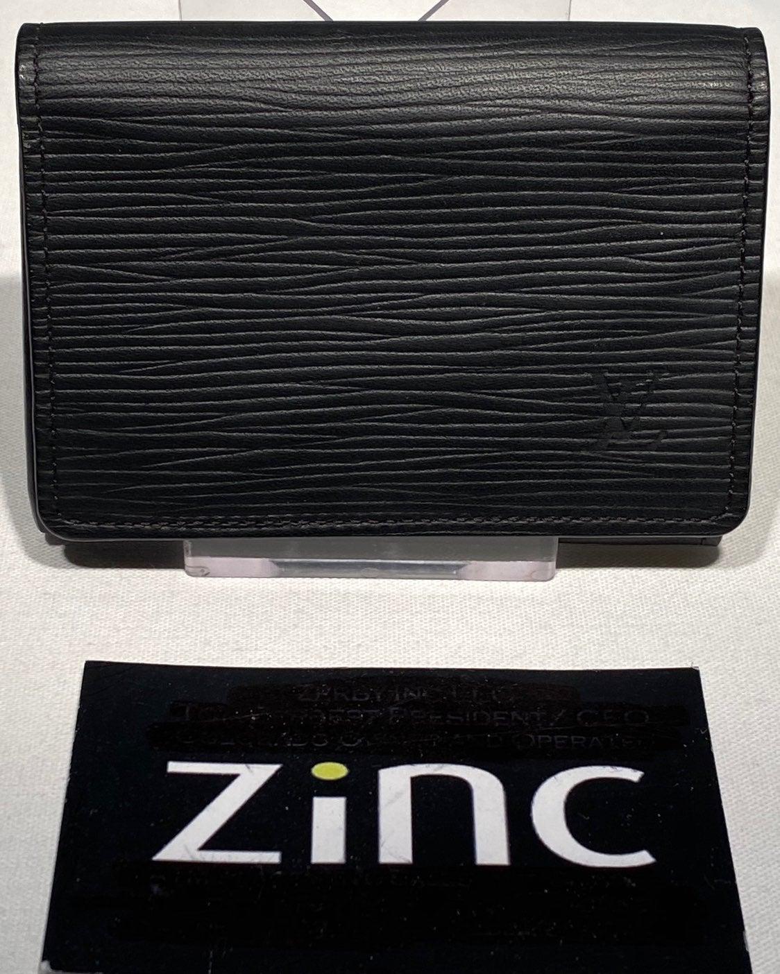 Louis Vuitton Black Epi Card Holder