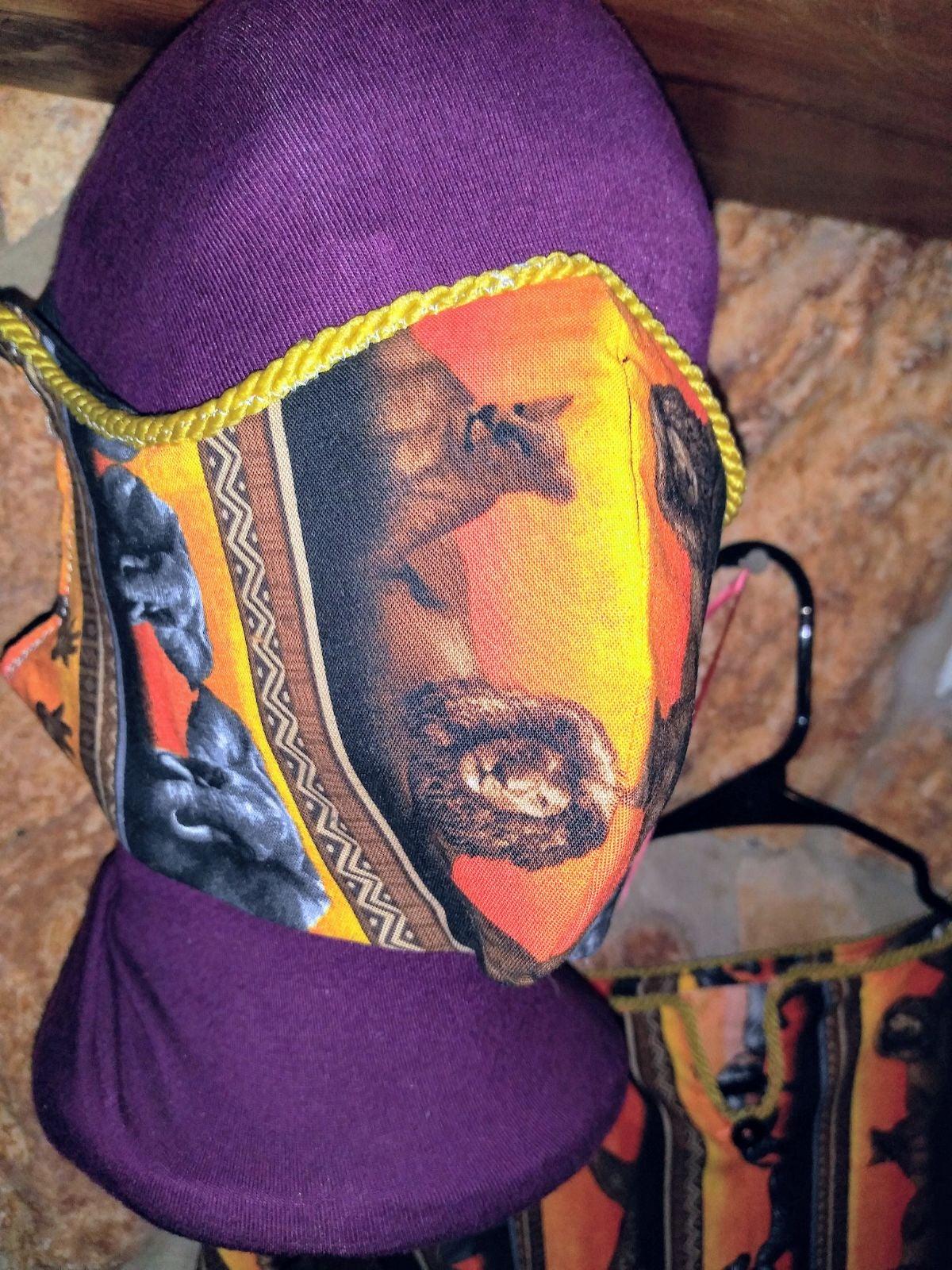 African dashiki and mask