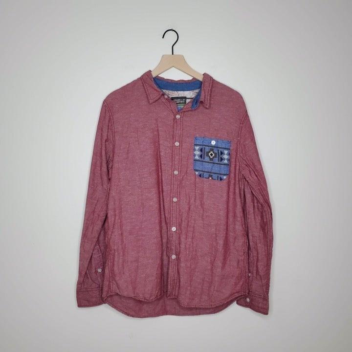 Modern Amusement Button Up Shirt / L