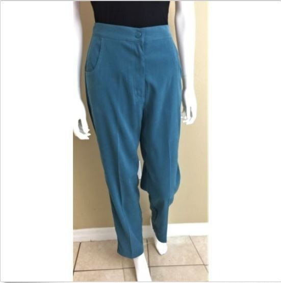 Denim & Co Pants Comfort Teal Blue XS